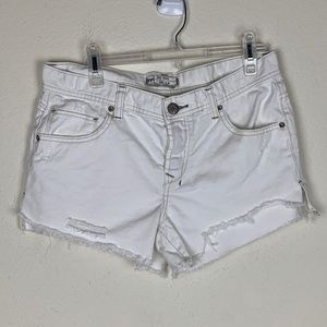 Free People- White Distressed Shorts size 29